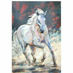 Primus 3D White Stallion Wall Art