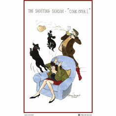 Tottering By Gently The Shooting Season Cotton Tea Towel