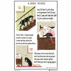 Tottering By Gently Dogs Prayer Cotton Tea Towel