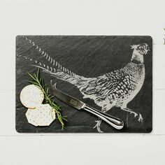 The Just Slate Company Pheasant Cheese Board & Knife Set