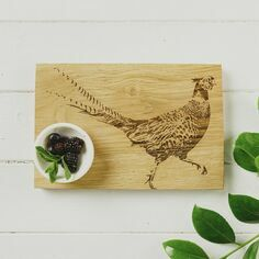 Scottish Oak Pheasant Serving Board