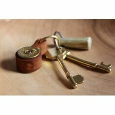 Leather Shotgun Cartridge Key Ring