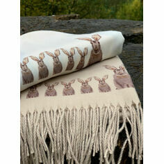 Hare Cream Cashmere Blend Scarf