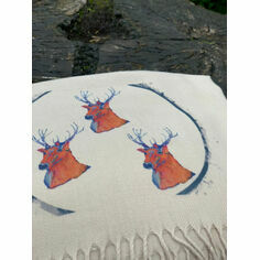 Stag Cream Cashmere Blend Scarf