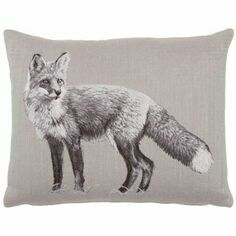 Hines of Oxford Country Linen Fox Tapestry Cushion