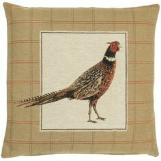 Hines of Oxford Strutting Pheasant Left Tapestry Cushion
