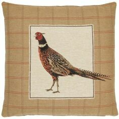 Hines of Oxford Strutting Pheasant Right Tapestry Cushion