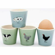 Bailey & Friends Set of 4 Farm Animals Egg Cups