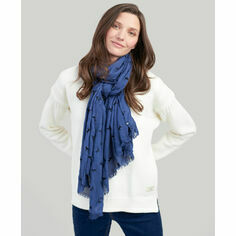 Joules Navy Labrador Corin Flocked Scarf