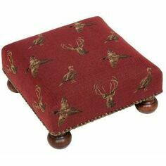 Hines of Oxford Highland Claret Footstool