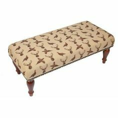 Hines of Oxford Highland Beige Stool