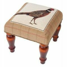 Hines of Oxford Strutting Pheasant Medium Footstool