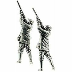 Shooter Pewter Cufflinks