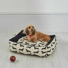 The Labrador Company Dachshund Print Dog Bed