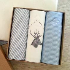 Set of 3 Italian CottonStag Handkerchiefs