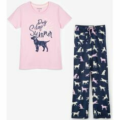Little Labs Women's Jersey Pyjama Bottoms & Dog Days Top