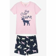 Little Labs Women's Jersey Pyjama Shorts & Dog Days Top