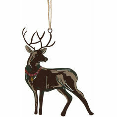 Deck The Hall Hanging Stag Decoration