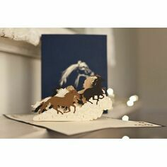 Wild Horses Pop Up Card