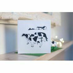 Friesian Cows Pop Up Card