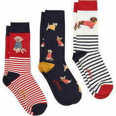 Joules Bamboozingly Brilliant Multi Dogs Bamboo Socks 3 Pack