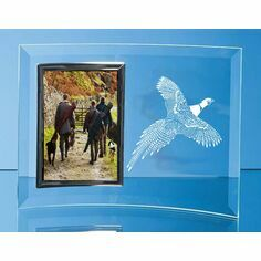 Flying Pheasant Curved Glass Photo Frame