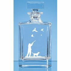 Engraved Shooting Scene Crystal Decanter