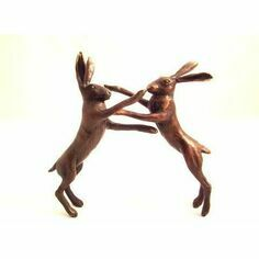 Philip Turner Boxing Hares Bronze Sculpture