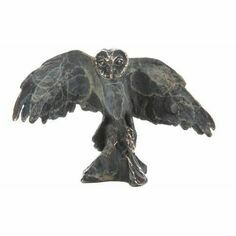 Philip Turner Owl Bronze Sculpture