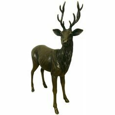 Philip Turner Large Red Deer Stag Bronze Sculpture