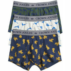 Joules Crown Joules Animals 3 Pack Boxers