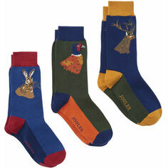 Joules Striking 3 Pack of Game Animal Socks