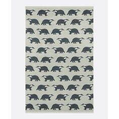 Anorak Dusky Green Kissing Badgers Bath Towel
