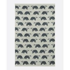 Anorak Dusky Green Kissing Badgers Hand Towel