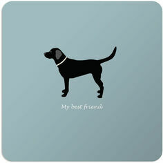 Bailey & Friends Black Labrador Coaster