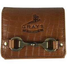 Grays Jodie Compact Purse Natural Leather Croc