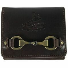 Grays Jodie Compact Snaffle Purse in Fine Brown Leather