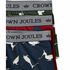 Joules Crown Joules Multi Animals 3 Pack Boxers