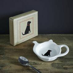 Sweet William Black Labrador Teabag Holder Dish