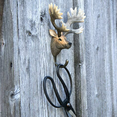 Hand Carved Stag Hook