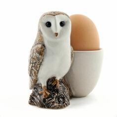 Quail Ceramics Barn Owl Egg Cup