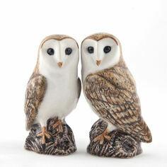 Quail Ceramics Barn Owl Salt & Pepper Shaker Pots