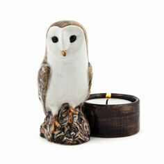 Quail Ceramics Barn Owl Tea Light Holder