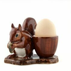 Quail Ceramics Squirrel Egg Cup