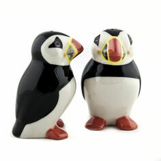 Quail Ceramics Puffin Salt & Pepper Shaker Pots