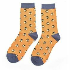 Ladies Mustard Honey Bees Socks