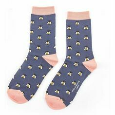 Ladies Navy Honey Bees Socks