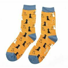 Ladies Labrador Socks in mustard
