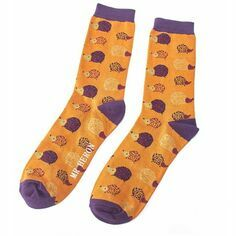 Men\'s Mustard Hedgehog Socks