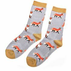 Ladies Powder Blue/Lilac Fox Socks